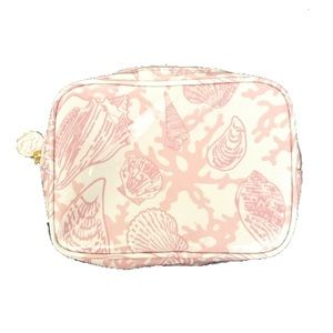 Estee Lauder Pink Seashell Travel Cosmetic Case